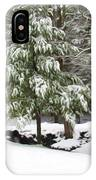Pine Tree Covered With Snow 2 IPhone Case
