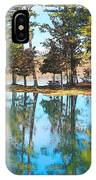 Pine Tree Water Reflections IPhone Case