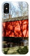 Pine Valley Covered Bridge In Bucks County Pa IPhone Case