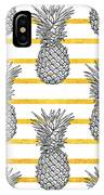 Pineapple Tropical Vector Seamless IPhone Case