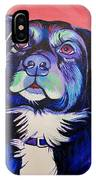 Pink And Blue Dog IPhone Case