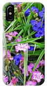 Pink And Blue Garden IPhone Case