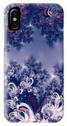 Pink And Blue Morning Frost Fractal IPhone Case