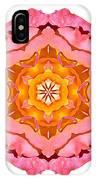 Pink And Orange Rose I Flower Mandala White IPhone Case