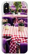 Pink And Purple Dining IPhone Case