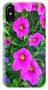 Pink And Purple Petunias IPhone Case