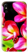 Pink And Red Plumeria IPhone Case