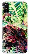 Pink And Yellow Croton IPhone Case