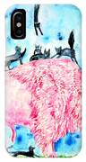 Pink Bison And Black Cats IPhone Case