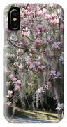 Pink Blossoms And Gray Moss IPhone Case
