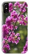 Pink Bougainvillea Sunshine IPhone Case