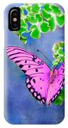 Pink Butterfly IPhone Case
