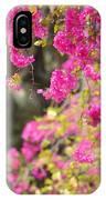 Pink Cascade Of Bougainvillea. Vertical IPhone Case