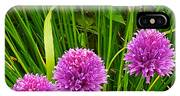 Pink Chives In Mackinac Island-michigan IPhone Case
