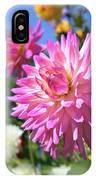Pink Dahlia Flower Closeup IPhone Case