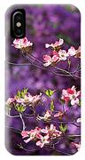 Pink Dogwood With Purple Azaleas IPhone Case