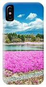 Pink Flowers Blue Sky IPhone Case