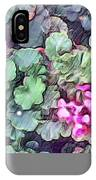 Pink Flowers Painting IPhone X Case