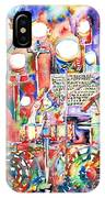 Pink Floyd Live Concert Watercolor Painting.1 IPhone Case