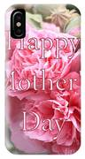 Pink Hollyhock Mother's Day Card IPhone Case