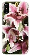 Pink Lilies I IPhone Case