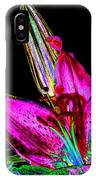 Pink Lily And Bud Pop Art IPhone Case
