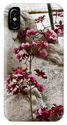 Pink Orchid And Statue IPhone Case