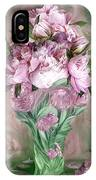Pink Peonies In Peony Vase IPhone Case