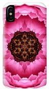 Pink Peony I Flower Mandala White IPhone Case
