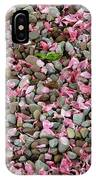 Pink Petals On Stones  IPhone Case