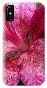 Pink Rain Speckled Lily IPhone Case
