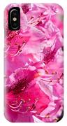 Rhododendron Called Azalea Bright Pink Flowers  IPhone Case