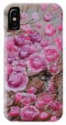 Pink Rose Birdies IPhone Case