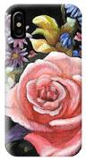 Pink Rose Floral Painting IPhone X Case