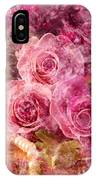 Pink Roses And Pearls IPhone Case