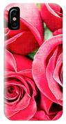 Pink Roses Flowers  IPhone Case