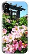 Pink Roses Near Trellis IPhone Case
