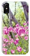 Pink Spring Tulips-light IPhone Case