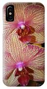 Pink Striped Orchids IPhone Case