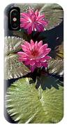 Pink Water Lily IIi IPhone Case
