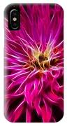 Pink Zinnia Digital Wave IPhone Case
