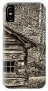 Pioneer Cabin And Shed In Cades Cove E227 IPhone Case