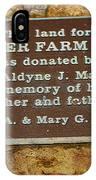 Pioneer Farm Park Plaque At Andersonville Georgia IPhone Case