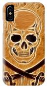 Pirates Skull Digtal Painting IPhone Case