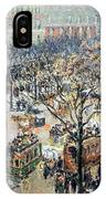 Pissarro's Boulevard Des Italiens In Morning Sunlight IPhone Case