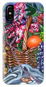 Plastic Fruits And Flowers IPhone Case