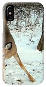 Playful In The Snow IPhone Case