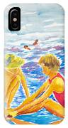 Playing On The Beach IPhone Case