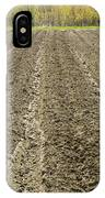 Plowed Spring Farmland Ready For Planting In Maine IPhone Case