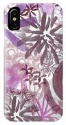 Plum And Grey Garden- Abstract Flower Painting IPhone Case